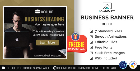 [Free Download] Business Banner – HTML5 Ad Template (BU001) (Nulled) [Latest Version]