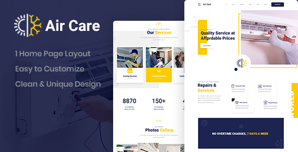 [Free Download] Aircare – Air Conditioning PSD Template (Nulled) [Latest Version]