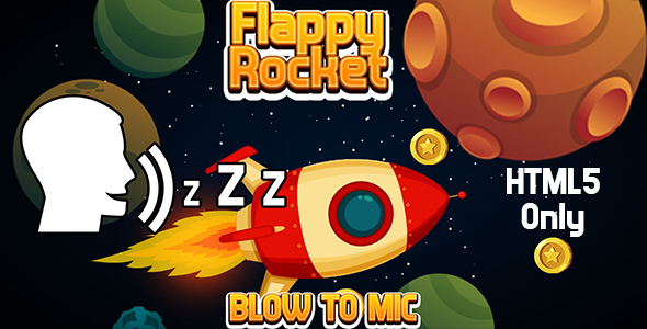 [Free Download] Flappy Rocket with Blowing (HTML5) Blow to Mic to Play (Nulled) [Latest Version]