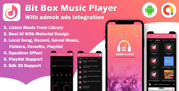 [Free Download] Android Bit Box Music Player – with admob ads (Nulled) [Latest Version]
