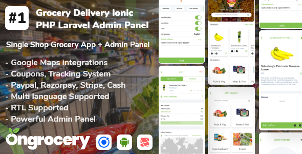[Free Download] Grocery ecommerce delivery app with admin panel   Android   Ios (Nulled) [Latest Version]
