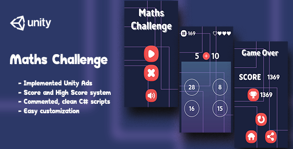 [Free Download] Maths Challenge – Complete Unity Game (Nulled) [Latest Version]