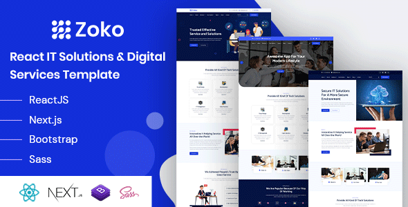 [Free Download] Zoko – React IT Solutions Template (Nulled) [Latest Version]