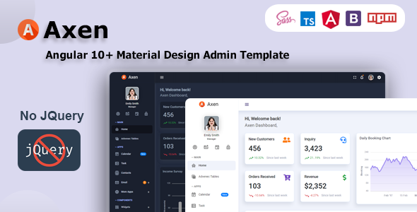 [Free Download] Axen – Angular 10+ Material Design Admin Template (Nulled) [Latest Version]