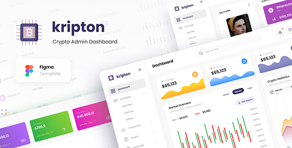[Free Download] Kripton Admin – Cryptocurrency Dashboard UI Design Template Figma (Nulled) [Latest Version]
