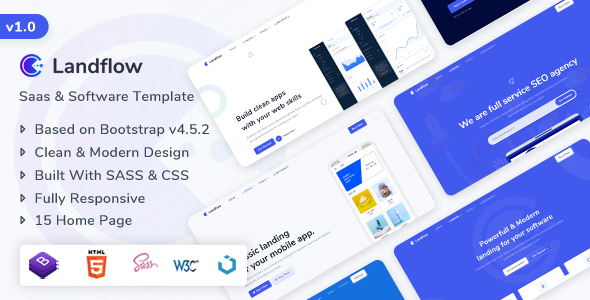 [Free Download] Landflow – Saas & Software Landing Page Template (Nulled) [Latest Version]