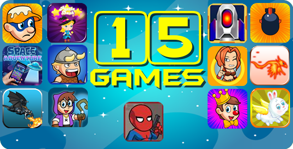 [Free Download] 15 Games Html5 Bundle – 70% Discount $298 For $90 (Nulled) [Latest Version]