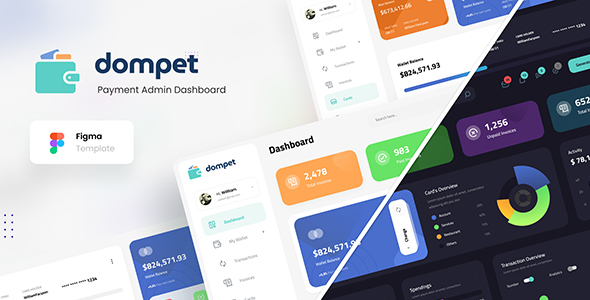 [Free Download] Dompet – Payment Admin Dashboard UI Template Figma (Nulled) [Latest Version]