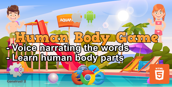 [Free Download] Human Body Game for Kids – Educational Game – HTML5 (.Capx) (Nulled) [Latest Version]