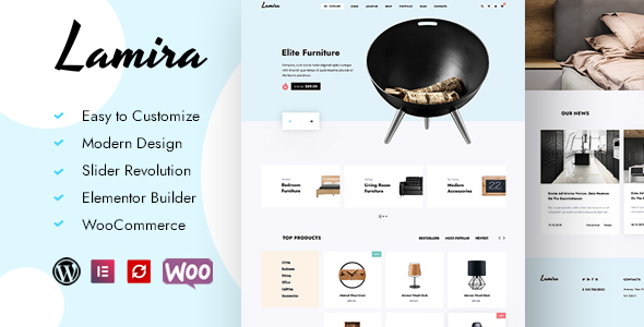 [Free Download] Lamira – Furniture WooCommerce Theme (Nulled) [Latest Version]