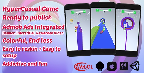 [Free Download] Rainbow Balls Game | Unity Casual Project With Admob Ad For Android And iOS (Nulled) [Latest Version]