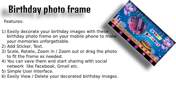 [Free Download] Birthday Photo Frame android app code with ad mob (Nulled) [Latest Version]