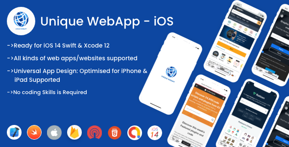 [Free Download] Unique WebApp For iOS – WebView URL/HTML to iOS app (Nulled) [Latest Version]