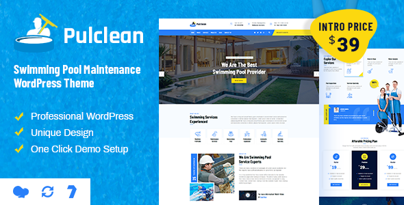 [Free Download] Pulclean – Swimming Pool Maintenance WordPress (Nulled) [Latest Version]
