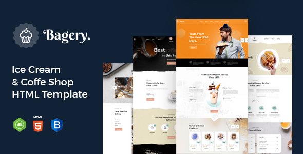 [Free Download] Bagery – Ice Cream Shop HTML5 Template (Nulled) [Latest Version]