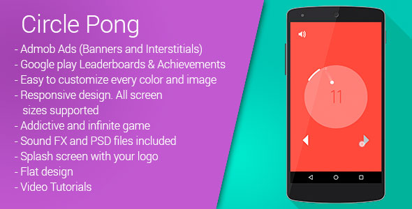 [Free Download] Circle Pong | Google Admob | Leaderboards | Android Game (Nulled) [Latest Version]