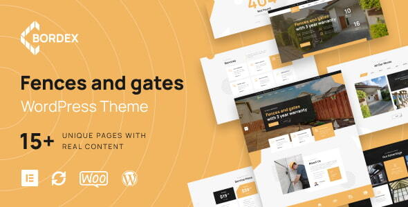 [Free Download] Bordex – Fences and Gates WordPress Theme (Nulled) [Latest Version]