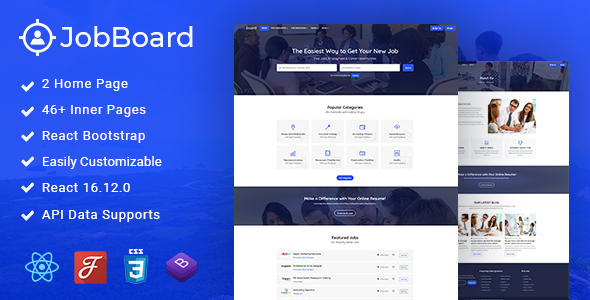 [Free Download] Job Board – Job Admin React Template (Nulled) [Latest Version]