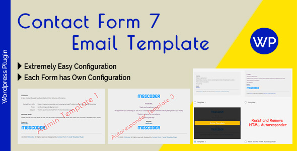 [Free Download] Contact Form 7 Email Template – email Template Configuration for Admin and Autoresponder (Nulled) [Latest Version]