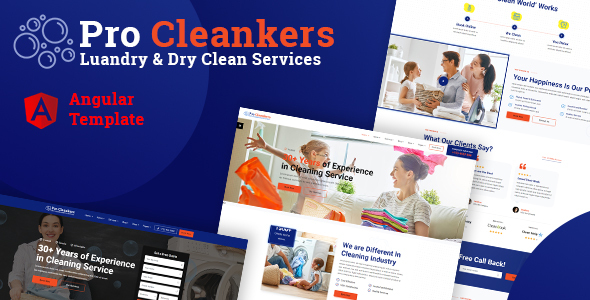 [Free Download] Procleankers   Laundry Services Angular Template (Nulled) [Latest Version]
