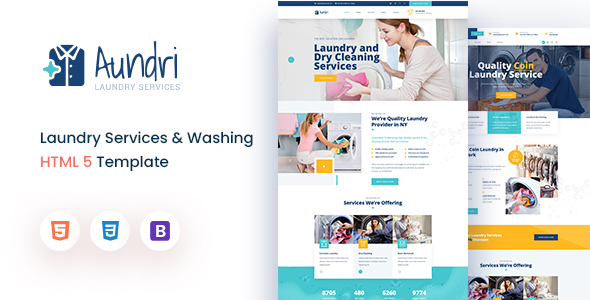 [Free Download] Aundri – Dry Cleaning Services HTML Template (Nulled) [Latest Version]
