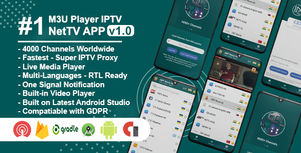 [Free Download] NetTV – IPTV & Android Live TV (Nulled) [Latest Version]