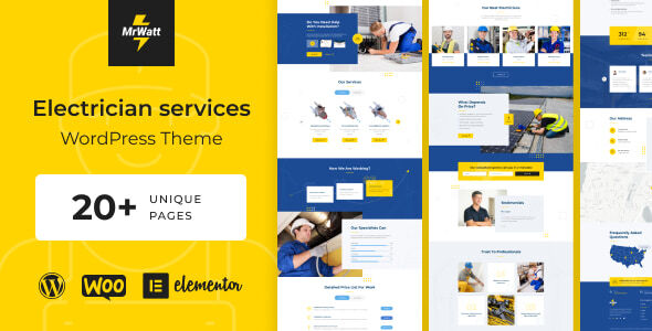 [Free Download] MrWatt – Electrical Services WordPress Theme (Nulled) [Latest Version]