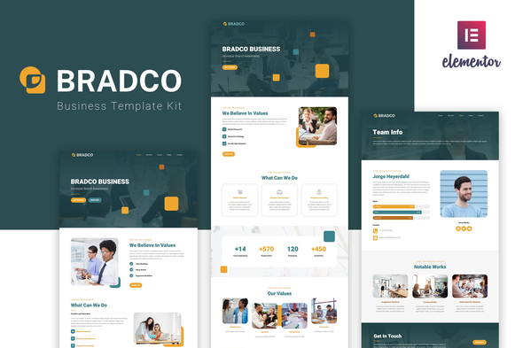 [Free Download] Bradco – Business Elementor Template Kit (Nulled) [Latest Version]