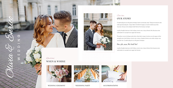 [Free Download] Olivia & Enrico – Wedding Template (Nulled) [Latest Version]