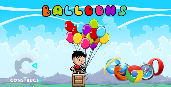 [Free Download] Balloon HTML5 Game (With Construct 3 All Source-code (.c3p) (Nulled) [Latest Version]