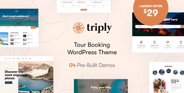 [Free Download] Triply – Tour Booking WordPress Theme (Nulled) [Latest Version]