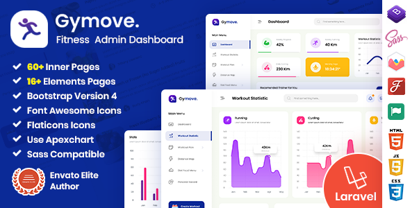 [Free Download] Gymove – Fitness Admin Dashboard Laravel Bootstrap Template (Nulled) [Latest Version]