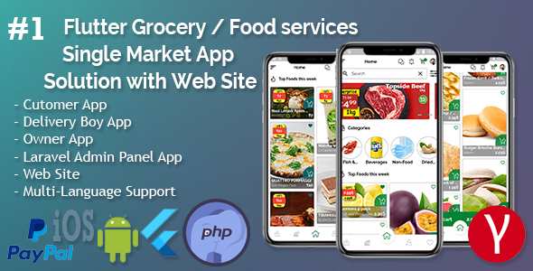 [Free Download] Single Market Grocery/Food/Pharmacy (Android+iOS+Admin Panel) Full App Solution with Web Site (Nulled) [Latest Version]