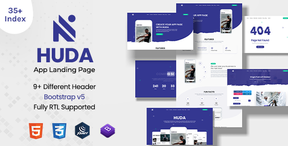 [Free Download] Huda | App Landing Page (Nulled) [Latest Version]