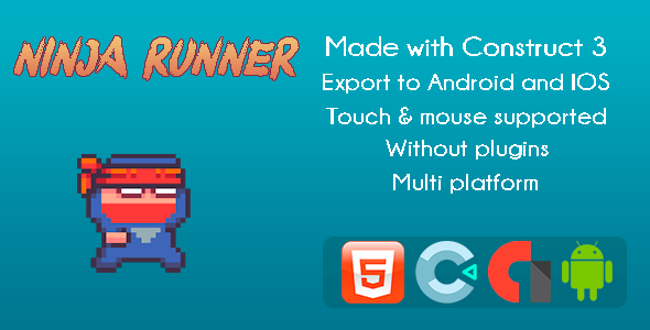 [Free Download] Ninja Runner – Game Arcade (Nulled) [Latest Version]