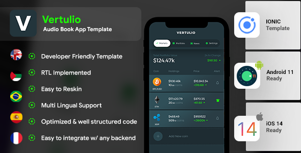 [Free Download] Cryptocurrency Management Android App Template+ iOS App Template| IONIC 5 | Vertulio (Nulled) [Latest Version]