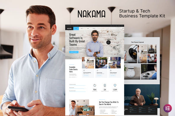 [Free Download] Nakama – Startup & Tech Business Elementor Template Kit (Nulled) [Latest Version]