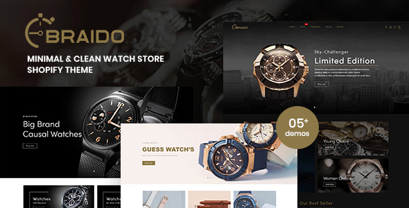 [Free Download] Braido – Minimal & Clean Watch Store Shopify Theme (Nulled) [Latest Version]