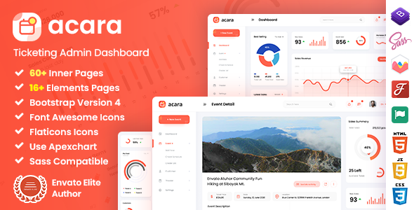 [Free Download] Acara – Ticketing Admin Dashboard Bootstrap HTML Template (Nulled) [Latest Version]