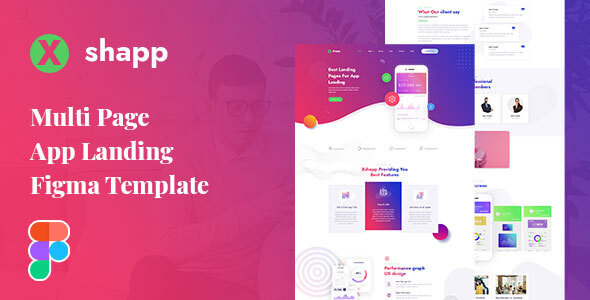 [Free Download] Xshapp – Multipage App Landing Figma Template (Nulled) [Latest Version]