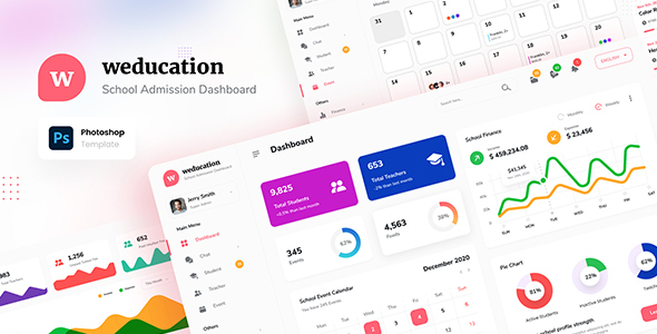 [Free Download] Weducation – Clean Dashboard Template PSD (Nulled) [Latest Version]