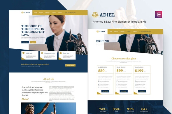 [Free Download] Adiel – Attorney & Law Firm Elementor Template Kit (Nulled) [Latest Version]