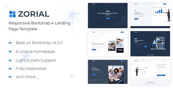 [Free Download] Zorial – Landing Page Template (Nulled) [Latest Version]