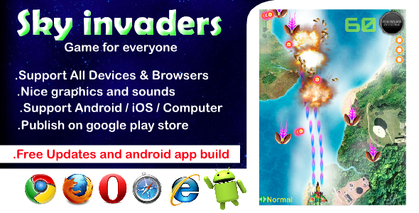 [Free Download] Sky Invaders HTML5 Game (Nulled) [Latest Version]