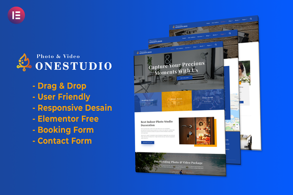 [Free Download] Onestudio – Photographer Agency Service Elementor Template Kit (Nulled) [Latest Version]