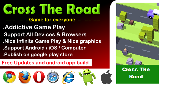 [Free Download] Cross The Road HTML5 Game (Nulled) [Latest Version]
