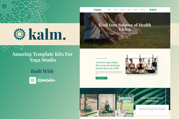 [Free Download] Kalm – Yoga & Spa Elementor Template Kit (Nulled) [Latest Version]