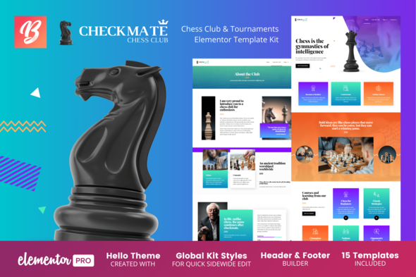 [Free Download] CheckMate – Chess Club & Tournaments Elementor Template Kit (Nulled) [Latest Version]