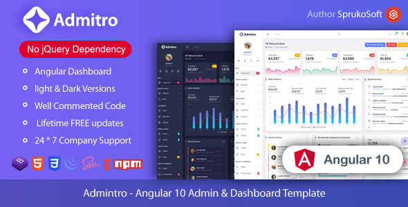 [Free Download] Admitro – Angular Admin & Dashboard Template (Nulled) [Latest Version]