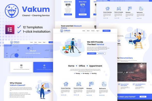 [Free Download] Vakum – Cleaning Service Elementor Template Kit (Nulled) [Latest Version]